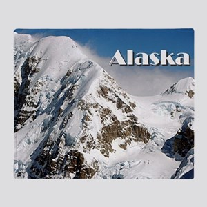 Alaska Range mountains, Alaska, USA  Throw Blanket