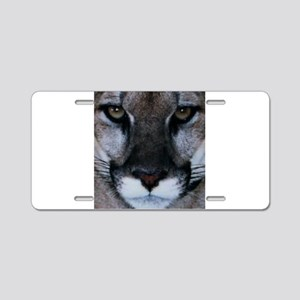 Panther Face Aluminum License Plate