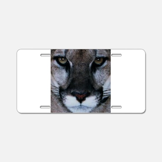 Panther Face.PNG Aluminum License Plate