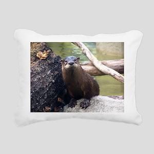 otter Rectangular Canvas Pillow