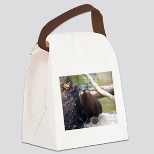 otter Canvas Lunch Bag