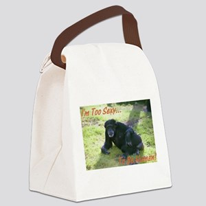 chimp Canvas Lunch Bag