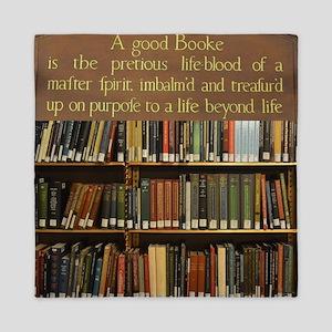 Bookshelves and Quotation Queen Duvet