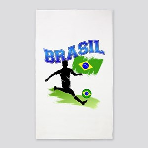 Soccer BRASIL Flag 3'x5' Area Rug