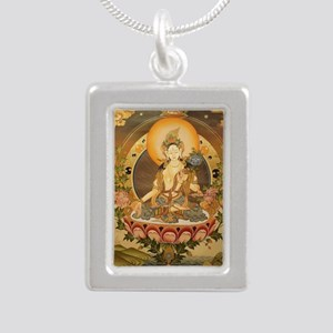 BUDDHA Silver Portrait Necklace