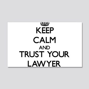 Keep Calm and Trust Your Lawyer Wall Decal