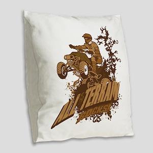 All Terrain Rocks Burlap Throw Pillow