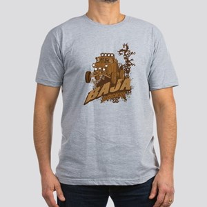 Baja Rocks Men's Fitted T-Shirt (dark)