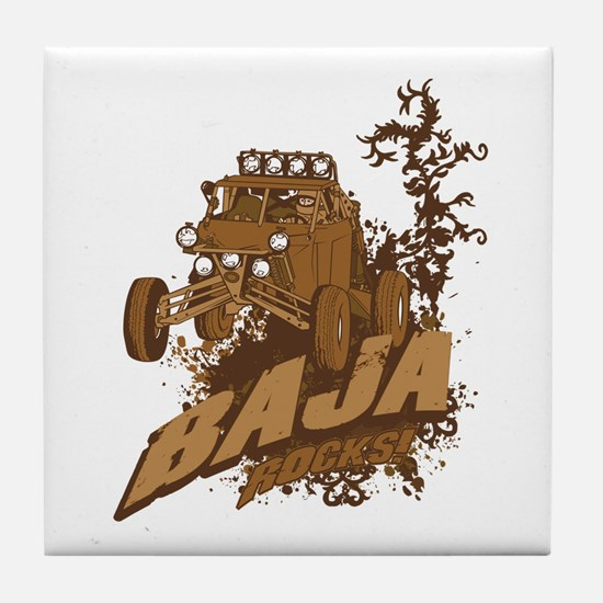 Baja Rocks Tile Coaster