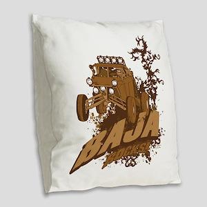 Baja Rocks Burlap Throw Pillow