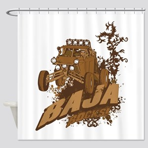 Baja Rocks Shower Curtain