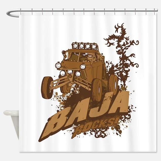 Baja Rocks Shower Curtain