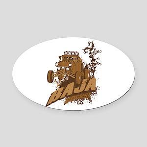 Baja Rocks Oval Car Magnet