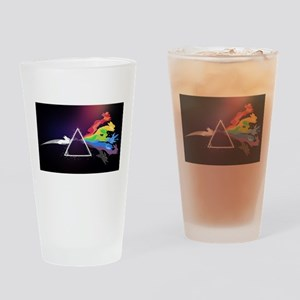 abstract bunnies Drinking Glass