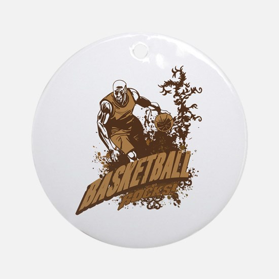 Basketball Rocks Ornament (Round)