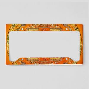 Tibetan Art Mandala License Plate Holder
