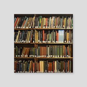 "Bookshelves Square Sticker 3"" x 3"""