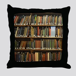 Bookshelves Throw Pillow