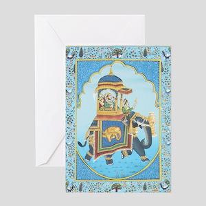 Royal Elephant Ride Greeting Card