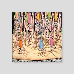 "Saraswati Hindu Goddess Square Sticker 3"" x 3"""
