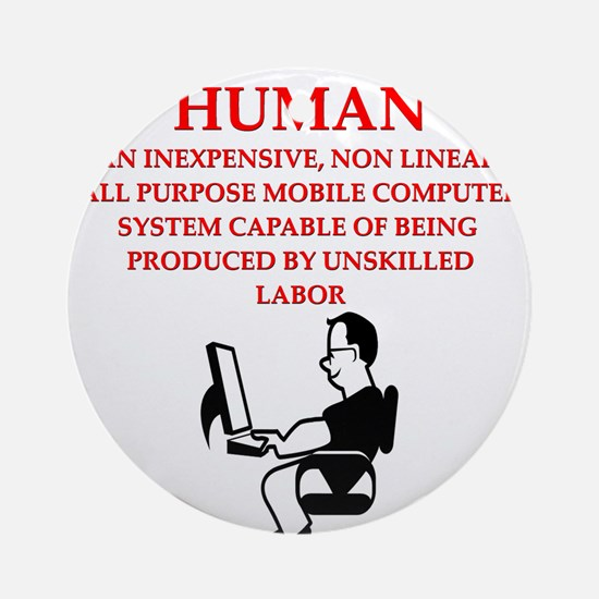HUMAN Ornament (Round)