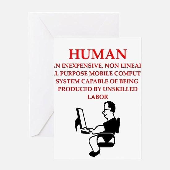 HUMAN Greeting Cards