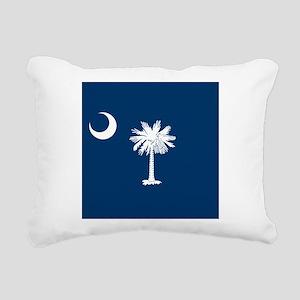 Flag of South Carolina Rectangular Canvas Pillow