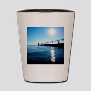 South Haven Michigan Lighthouse Pier Shot Glass