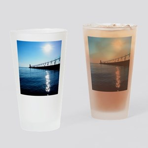 South Haven Michigan Lighthouse Pie Drinking Glass