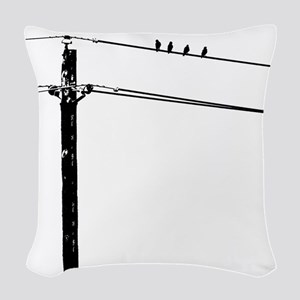 Birds On A Wire Woven Throw Pillow