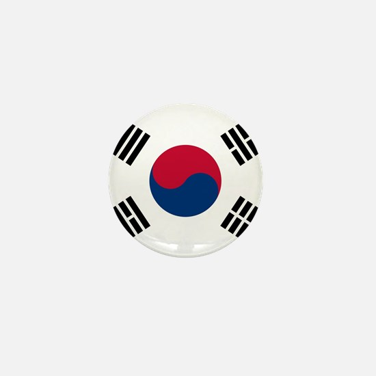 Flag of South Korea Mini Button