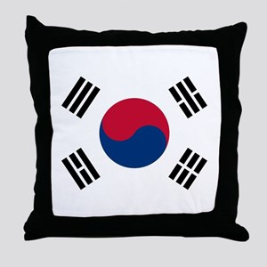 Flag of South Korea Throw Pillow