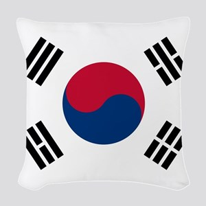 Flag of South Korea Woven Throw Pillow