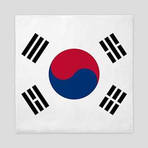 Flag of South Korea Queen Duvet