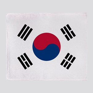 Flag of South Korea Throw Blanket