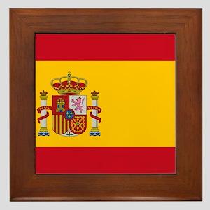 Flag of Spain Framed Tile