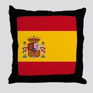 Flag of Spain Throw Pillow