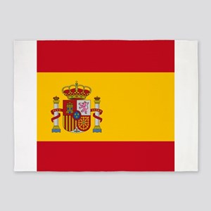 Flag of Spain 5'x7'Area Rug