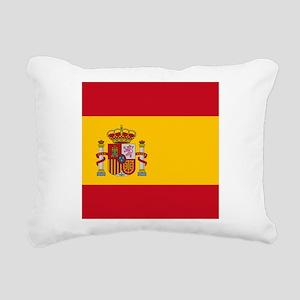 Flag of Spain Rectangular Canvas Pillow