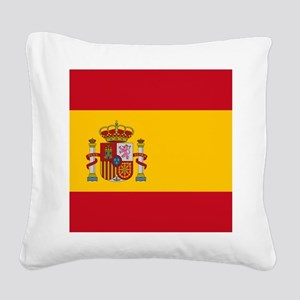 Flag of Spain Square Canvas Pillow