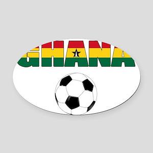 Ghana soccer Oval Car Magnet