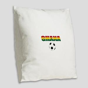 Ghana soccer Burlap Throw Pillow