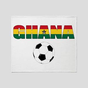 Ghana soccer Throw Blanket