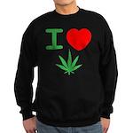 I Heart Weed Sweatshirt (dark)
