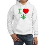 I Heart Weed Hoodie Hooded Sweatshirt