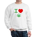 I heart weed Sweatshirt