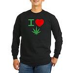 I heart weed Long Sleeve T-Shirt