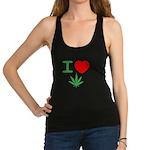 I Heart Weed Racerback Tank Top