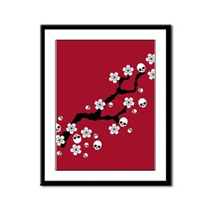 Gothic Cherry Blossoms Framed Panel Print