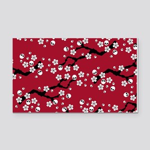 Gothic Cherry Blossoms Pattern Rectangle Car Magne